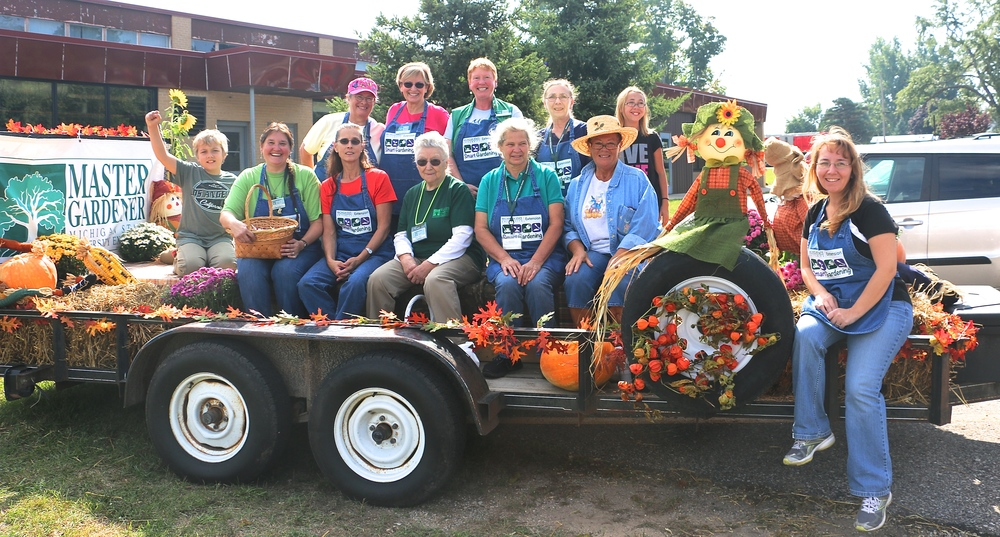 The Master Gardener Smart Gardening Group of Montcalm County also has been in two parades this year. This float was for the Howard City Fall Harvest Festival.