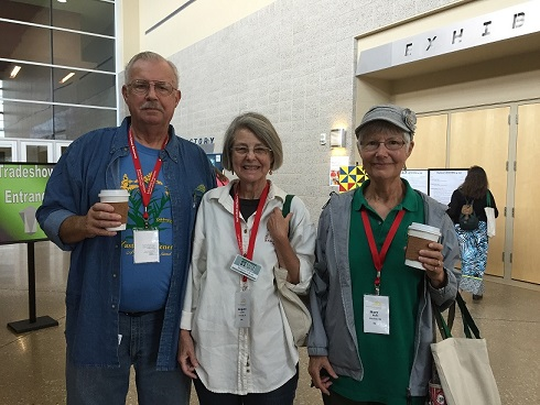 While at the conference, Mary snapped this photo of Oakland County EMG Margaret Lavere who met up with her sister from Kansas and a brother from Nebraska at the conference.  All are enthusiastic Master Gardeners.