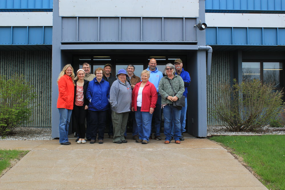 volunteers at the wastewater treatment plant