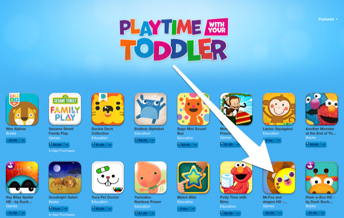 Mr.Fox and Shapes featured in Playtime with your toddler