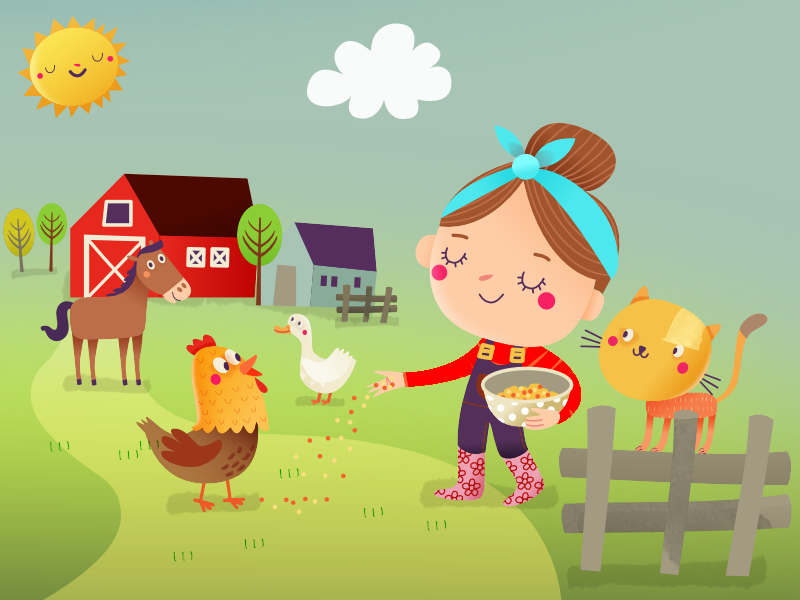 meet the farm animals in our up-coming game