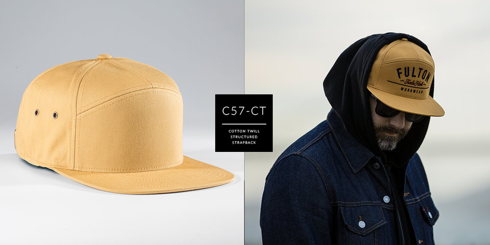 c57-CT // Custom 7 Panel - Cotton Twill // Strapback