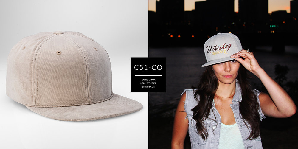 C51-CO // 6 Panel - Corduroy // Snapback