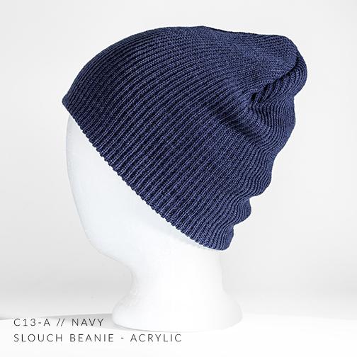 f22523542e5 c13-A    Slouch Custom Beanie - Acrylic — CAPTUER HEADWEAR