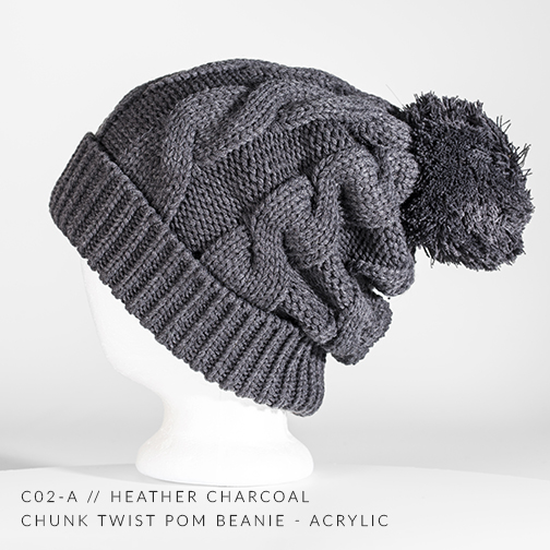 c02-A // Heather Charcoal
