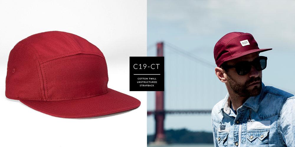 d11416fae30b1 c19-CT    5 Panel - Cotton Twill    Custom Strapback — CAPTUER HEADWEAR