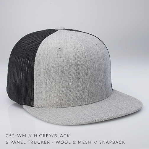 c52-WM // H.Grey/Black