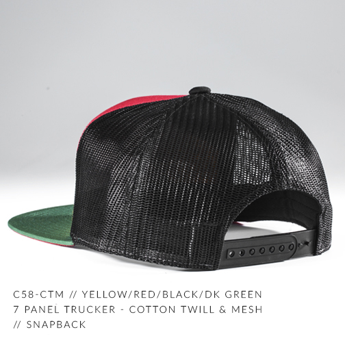 c58-CTM // YELLOW/RED/DK GREEN BACK