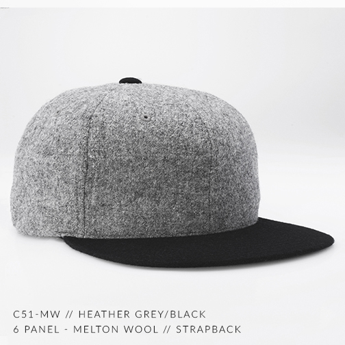 C51-MW // Heather Grey & Black