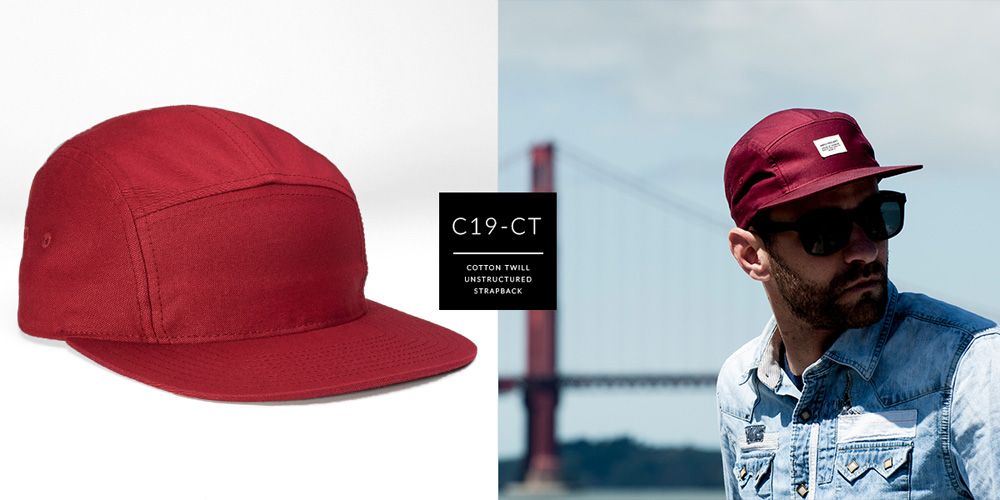 C19-CT // 5 PANEL - COTTON TWILL // CUSTOM STRAPBACK