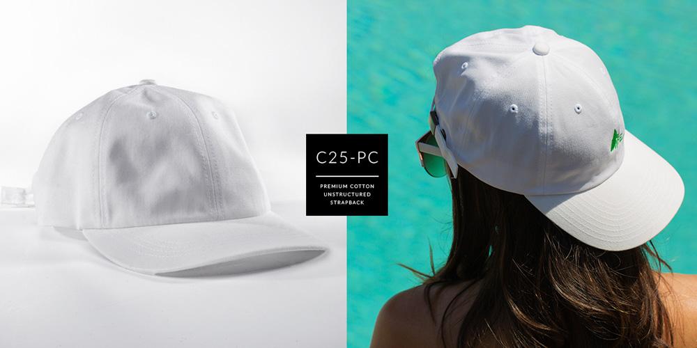 C25-PC // DAD HAT - PREMIUM COTTON // CUSTOM STRAPBACK