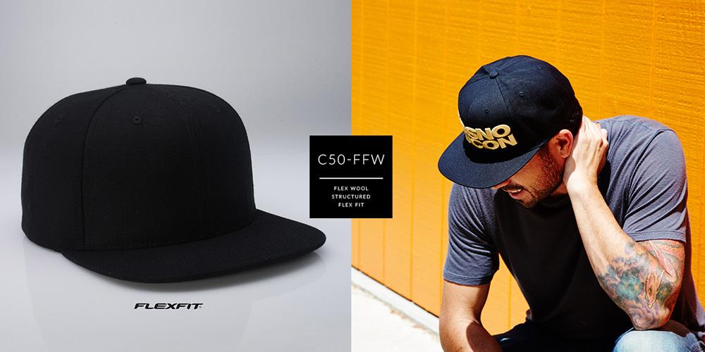 C50-FFW // 6 PANEL FLEX FIT - FLEX WOOL // S/M & L/XL