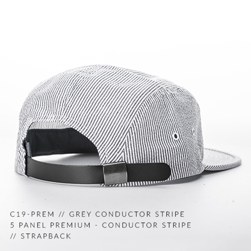 C19-PREM // GREY CONDUCTOR STRIPE BACK