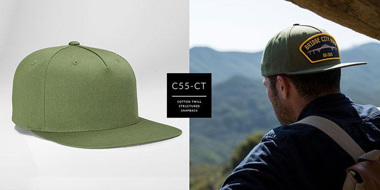 c55-CT // PINCH FRONT - COTTON TWILL // CUSTOM SNAPBACK