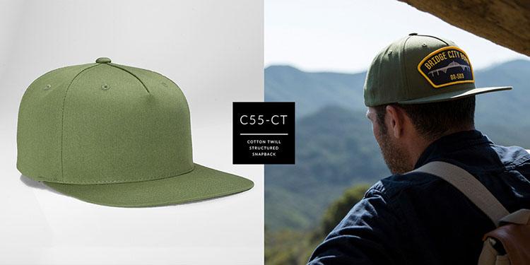 c55-CT // PINCH FRONT - COTTON TWILL // CUSTOM SNAPBACK