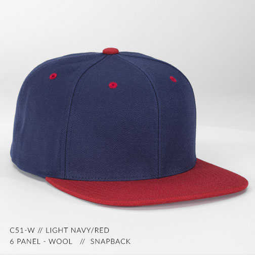 c51-W // Light Navy/Red