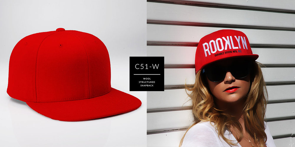 c51-W // Wool Custom Snapback Main