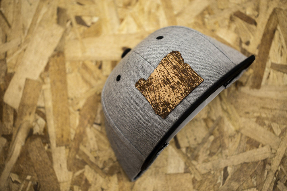 c51-W // Heather Grey | Leather Oregon Patch