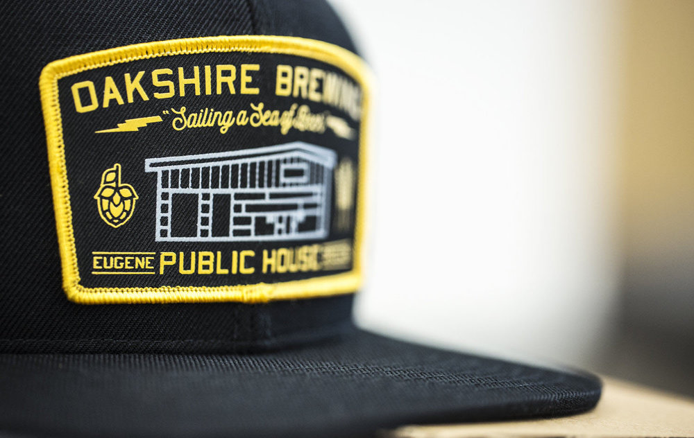 c51-W // Black | Oakshire Brewing - Screen Printed Patch