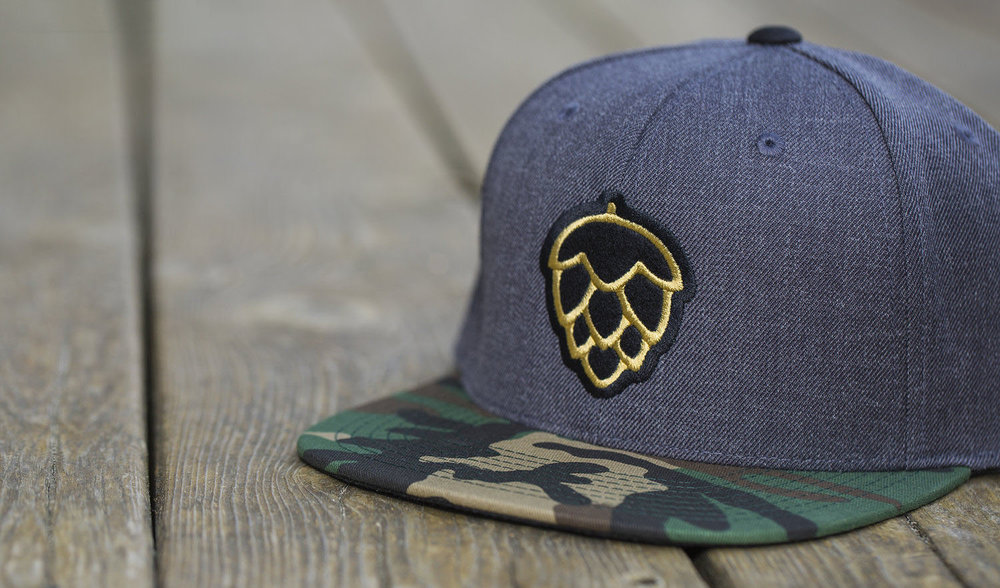 c51-W // H.Charcoal/Camo | Craft Brewing Show - Felt Applique