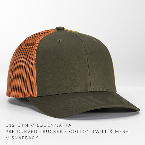 1cf06f1e104af c12-CTM    Pre Curved Trucker - Cotton Twill   Mesh    Custom ...