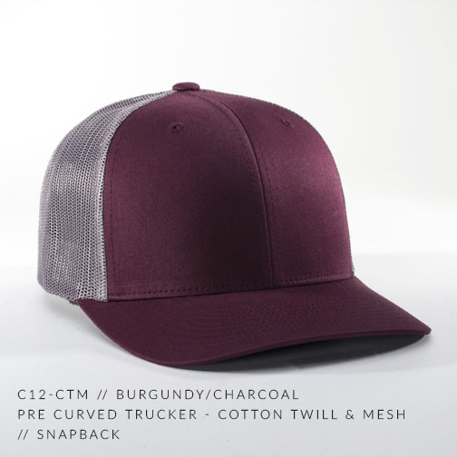 c12-CTM // Burgundy/Charcoal