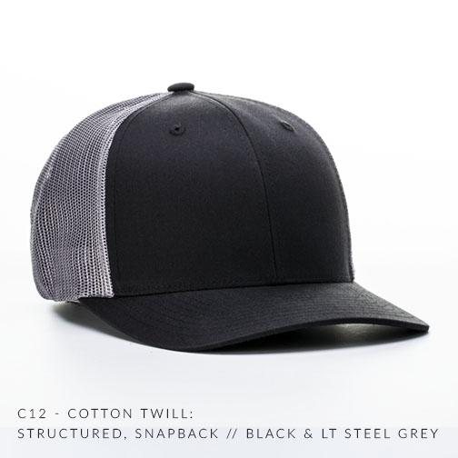 c12-CTM // Black/Lt Steel Grey