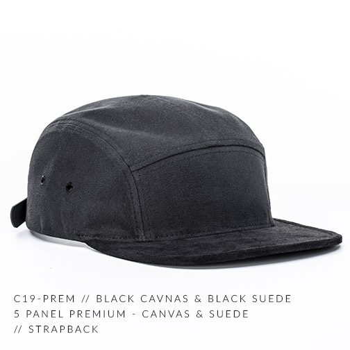 C19-PREM // BLACK CANVAS & BLACK SUEDE