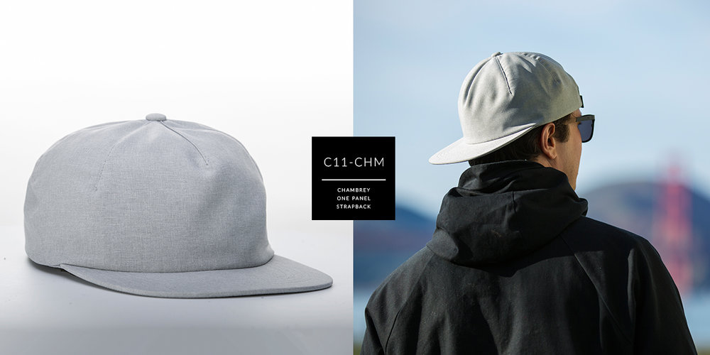 C11-CHM // 1 PANEL - CHAMBREY // CUSTOM STRAPBACK