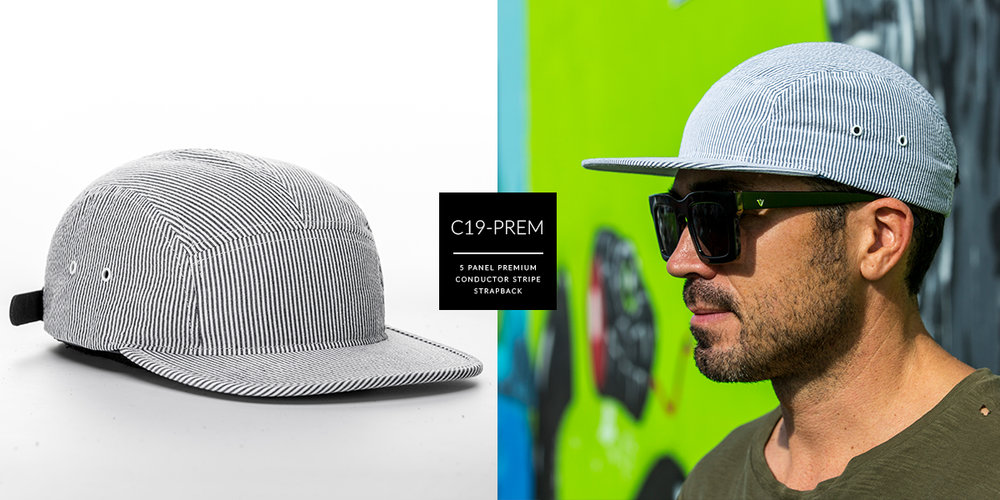 C19-PREM // PREMIUM 5 PANEL - ASSORTED // CUSTOM STRAPBACK
