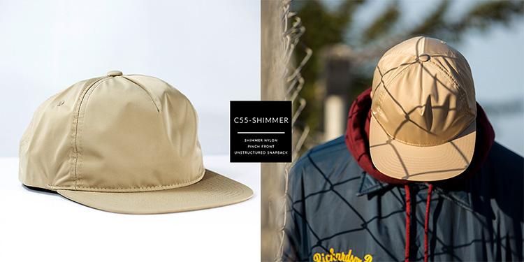 C55-SHIMMER  //  PINCH FRONT - SHIMMER NYLON  //  SNAPBACK