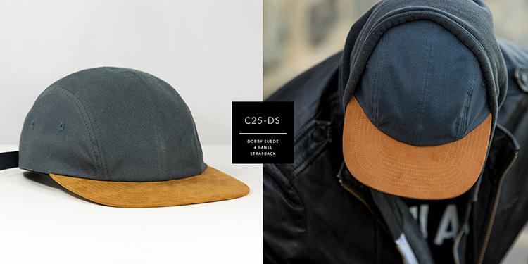 C24-DS // 4 PANEL - DOBY & SUEDE // STRAPBACK