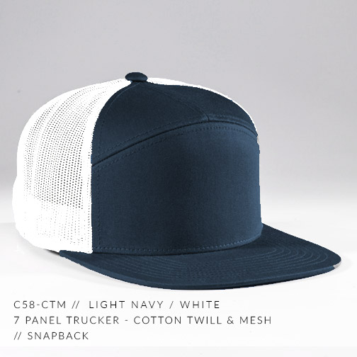 c58-CTM // LIGHT NAVY/WHITE