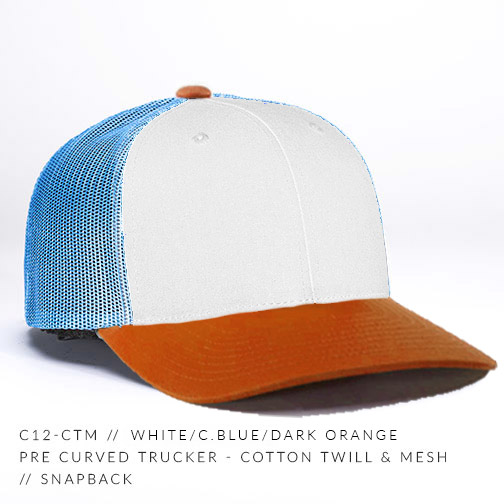 c12-CTM // White/C.Blue/Dark Orange