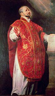 St. Ignatius of Loyala - Portrait By Peter Paul Rubens