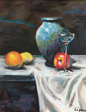 Blue Pot & Cordial by Barry Eigen.jpg