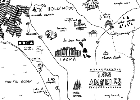 LOS ANGELES MAP - FIRST DRAFT Luca and I are going to be in Los Angeles for the3rd Annual Los Angeles Printers Fair,@International Printing Museum,9:00AM Saturday, October 1st. Thus, a Los Angeles Map Print was in order…
