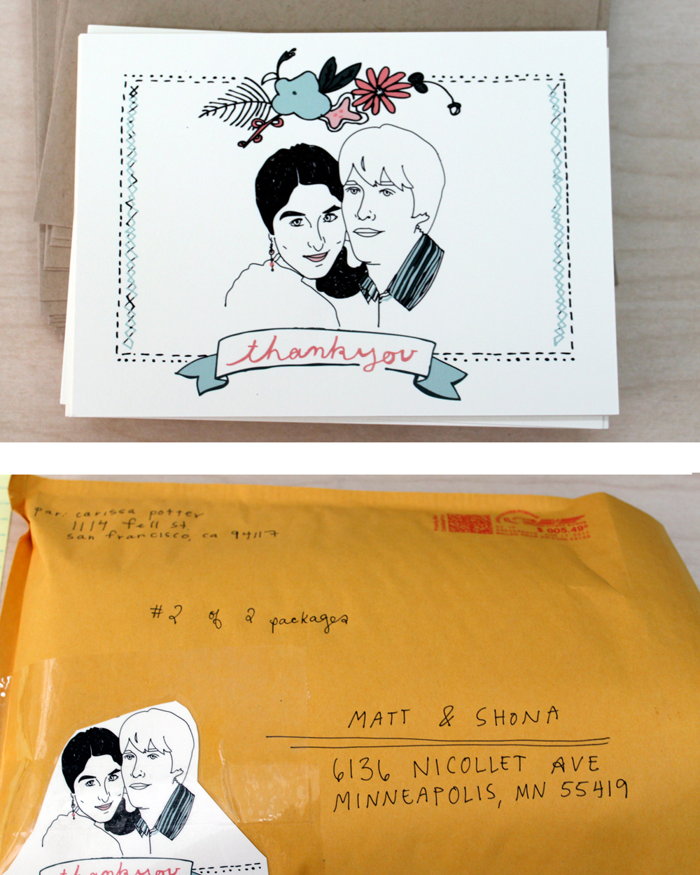 FINALLY GOT MATT AND SHONAS wedding gift off in the mail today…