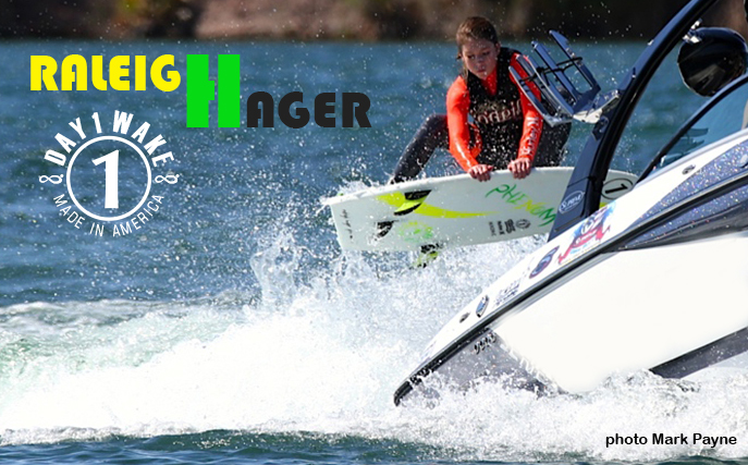 Raleigh Hager double grab at the Supreme Wake Surf Cahmpionship in Parker, Az