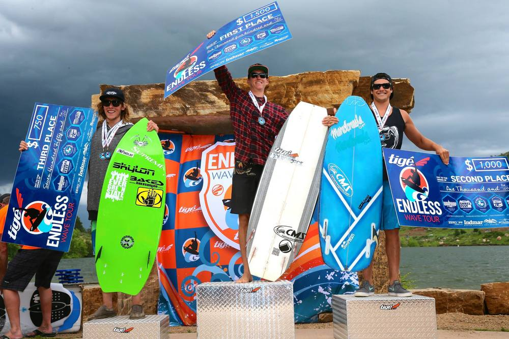 Men's Pro Surf podium