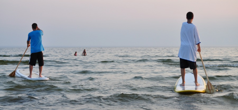 "Yes, there is good SUP and sometimes waves and ""warm"" water in the Great Lakes."