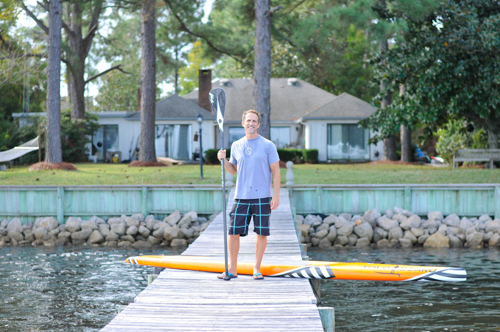 Jeff Archer, Yoloboard founder, at his home in Mirimar Beach, FL