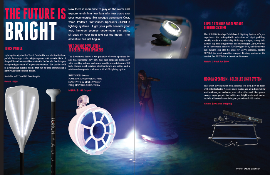 Directly from the December Lights Issue, p. 28-29, showing off all the different LED Lights
