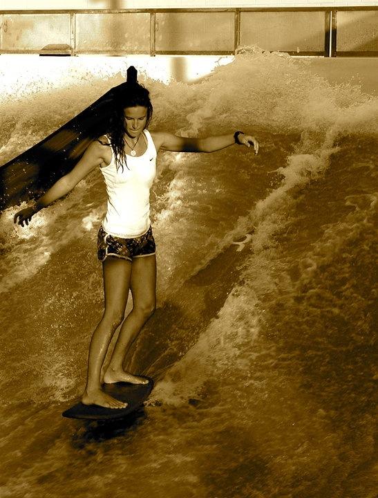 Lauren Peterson flowboarding
