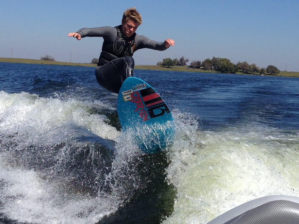 Hunter Sims on his O'Brien Watersports Tesani