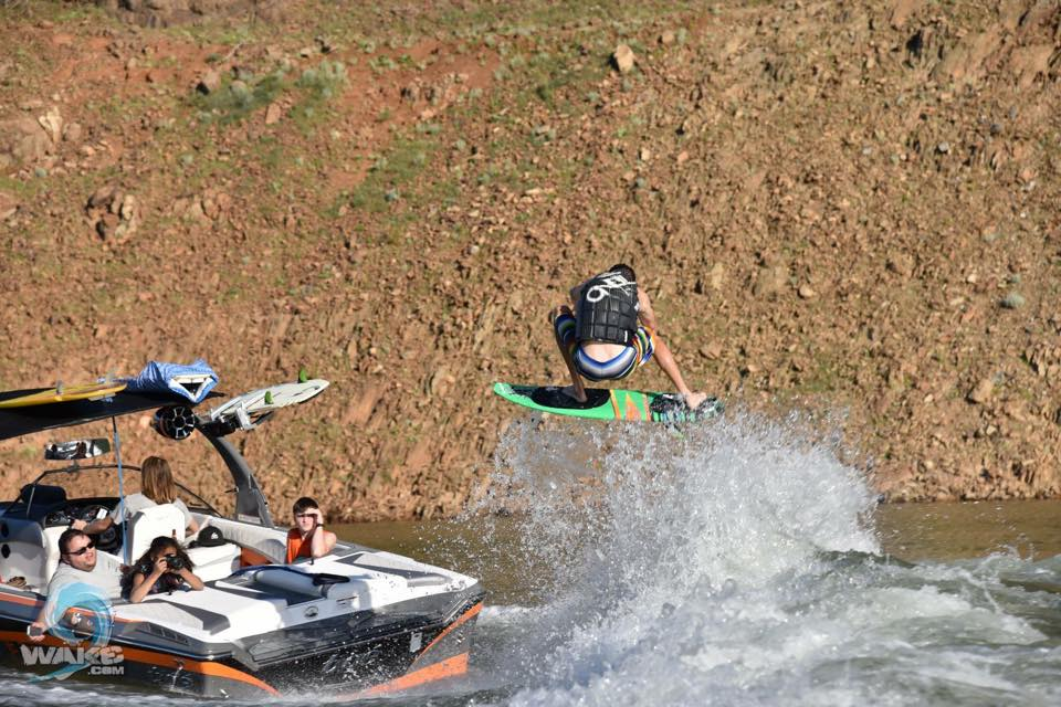 #boost, Hunter Clement, new Supreme Boats team rider, getting some huge air.  Photo Cred:  wake9.com