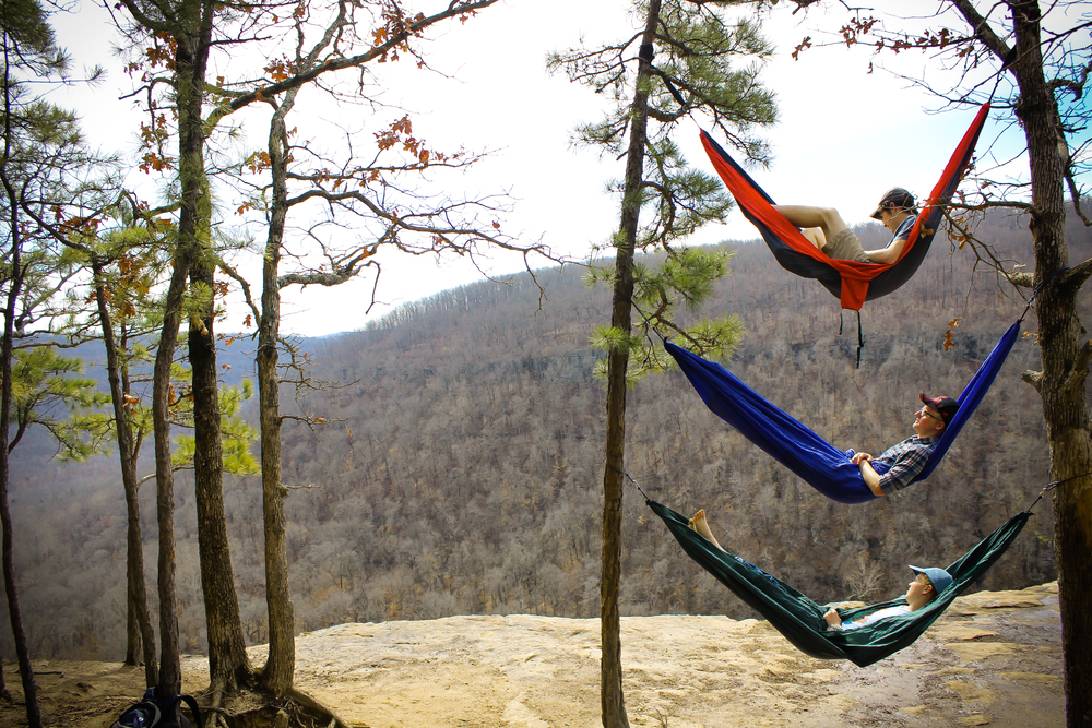 Life on the Arkansas River with spring breakers camping out on Whitaker Point.  Photo by Danny Braught.