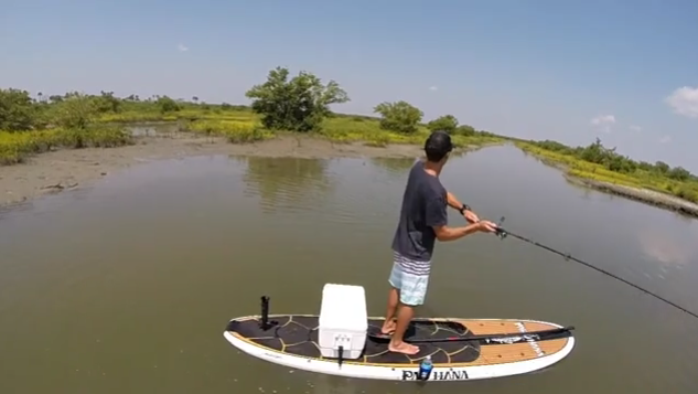 SUP Fishing on the Big EZ Angler
