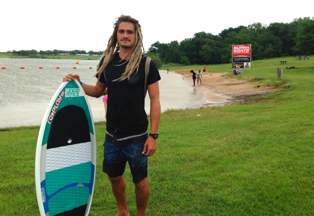 Austin at the fist stop of the Supra Pro Wake Tour