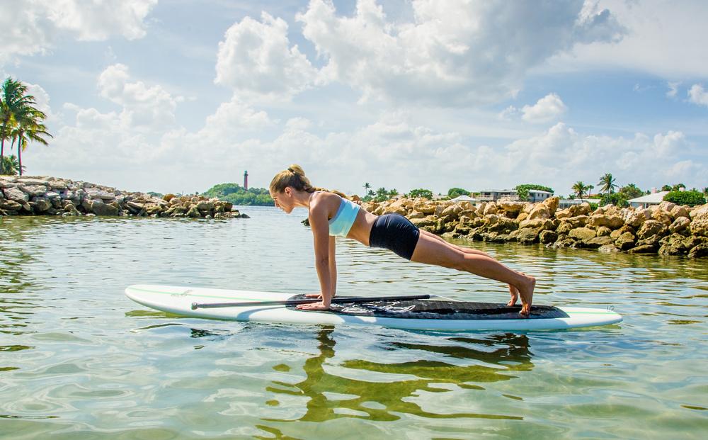 SUP Yoga- High Plank Pose